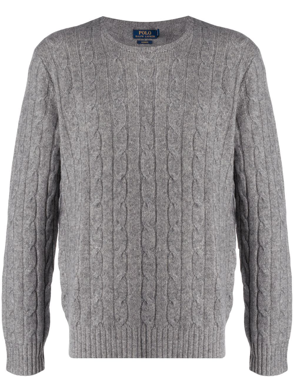 Polo Ralph Lauren Cable-knit Cashmere Sweater In Grey