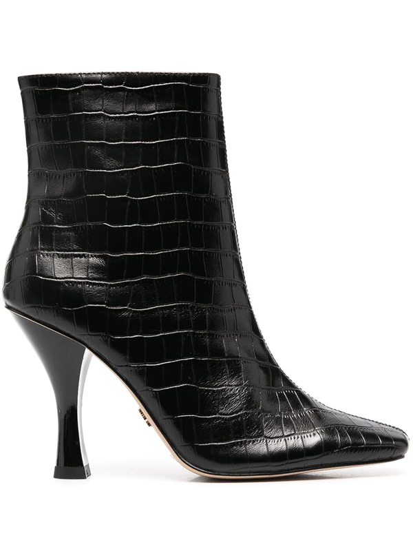Kurt Geiger High Heels Ankle Boots In Black Leather