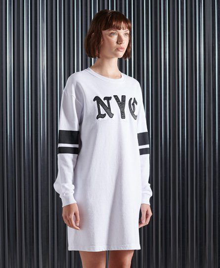 Superdry City New York Sweatkleid In White