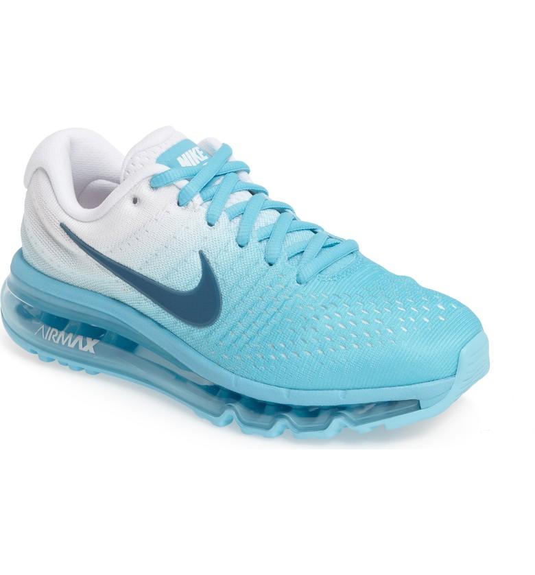 Women's Nike Air Max 2017 Running Shoe in Polarized Blue Legion Blue