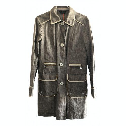 Pre-owned Bogner Beige Linen Trench Coat