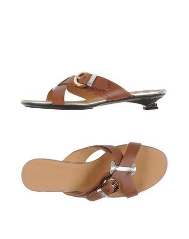 Hogan Sandals In Khaki