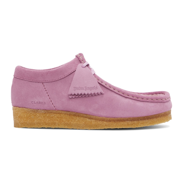 Palm Angels Purple Clark Originals Edition Wallabee Moccasins In Lilac