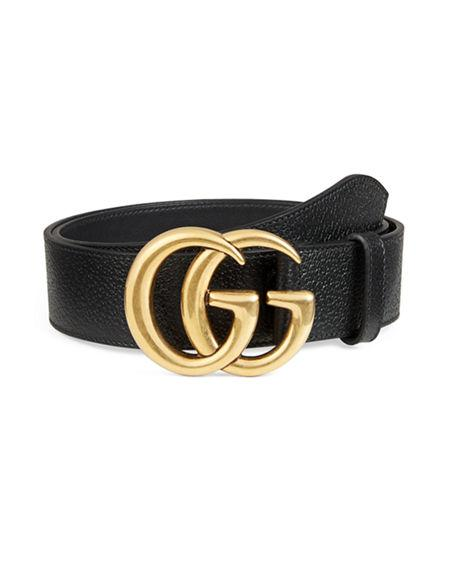 8da312e1b00 Gucci Men s Leather Belt With Double-G Buckle In Black