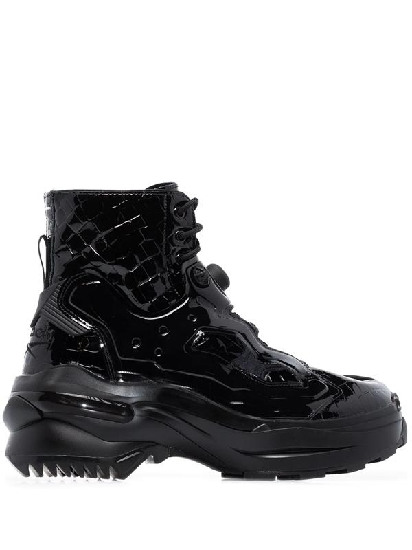Maison Margiela X Reebok Black Tabi Instapump Fury Lo Boots