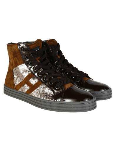 Hogan Hi-top Sneakers In Brown