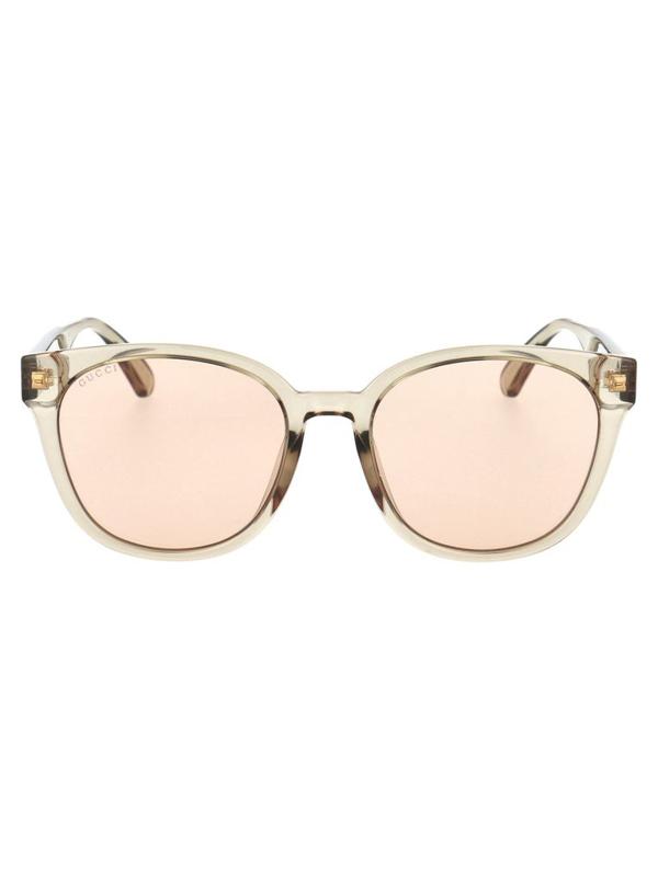 Gucci Women's Beige Acetate Sunglasses