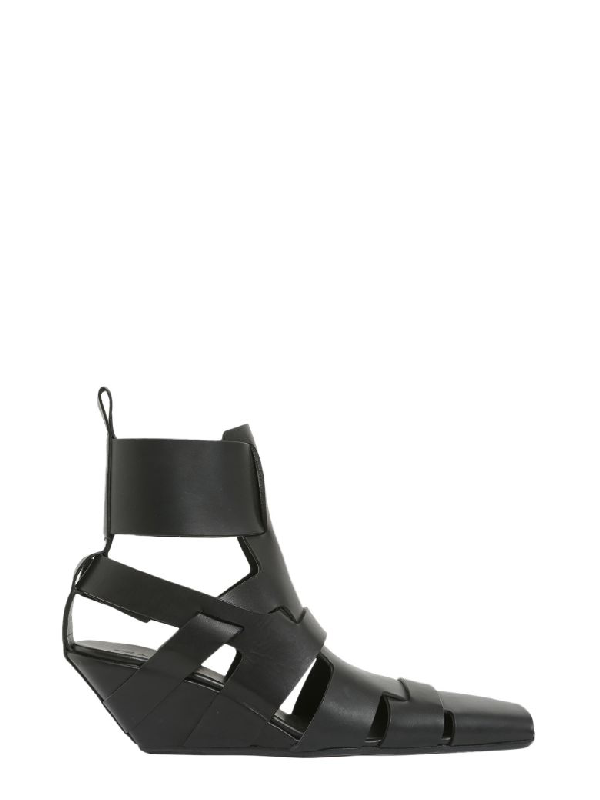 27bf2b424641 Rick Owens Black Lazarus Gladiator Sandals In Nero