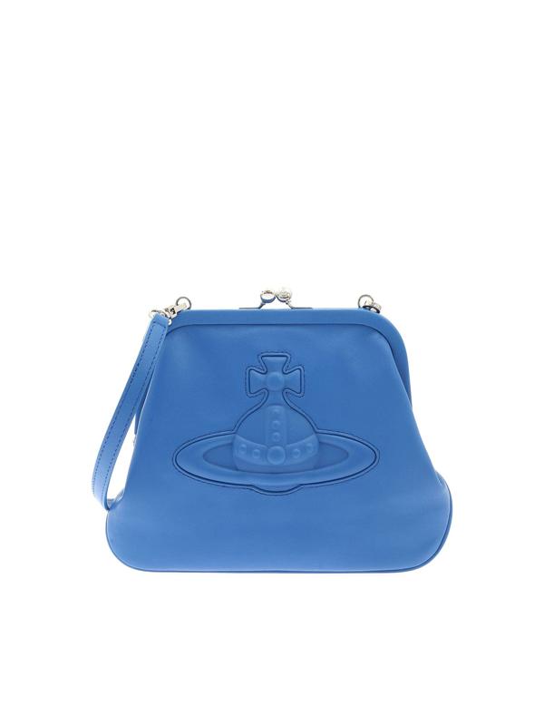Vivienne Westwood Chelsea Vivienne's Clutch Bag In Blue