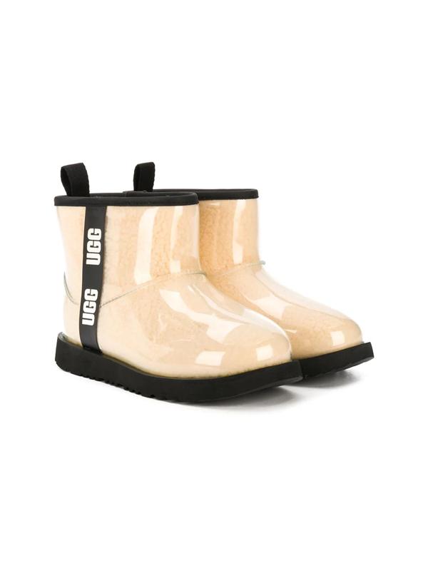 Ugg Teen Classic Clear Mini Ii Boots In Neutrals