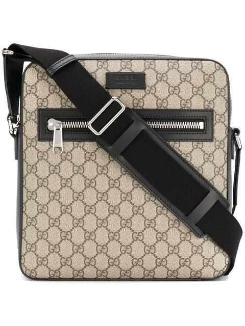 ebe2d313ea28e Gucci Gg Supreme Flat Messenger Bag In Beige