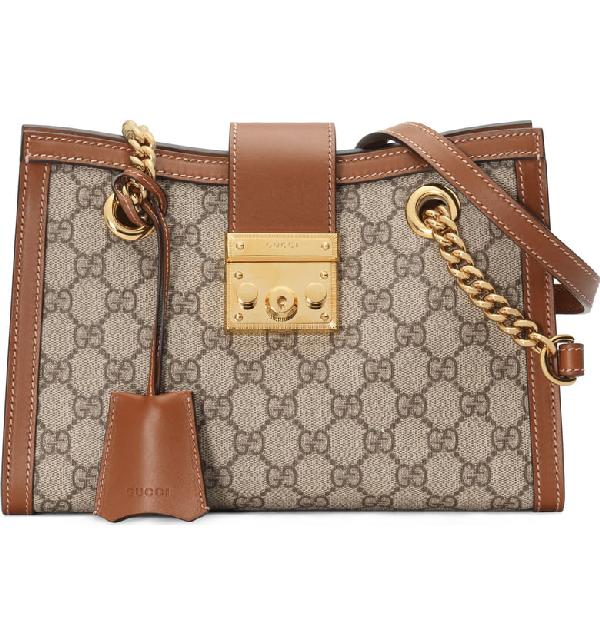 aa9720f63219 Gucci Small Padlock Gg Supreme Shoulder Bag - Beige In Neutrals ...