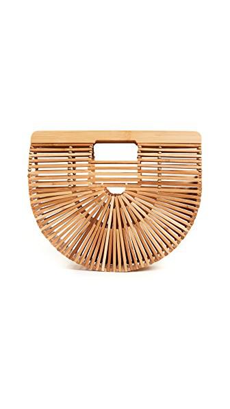 Cult Gaia Gaia'S Ark Small Bamboo Clutch Bag, Brown
