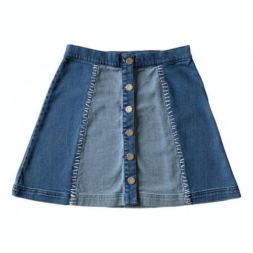 Pre-owned House Of Holland Blue Denim - Jeans Skirt