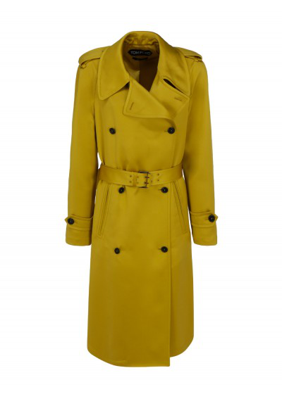 Tom Ford Trench Coat In Yellow
