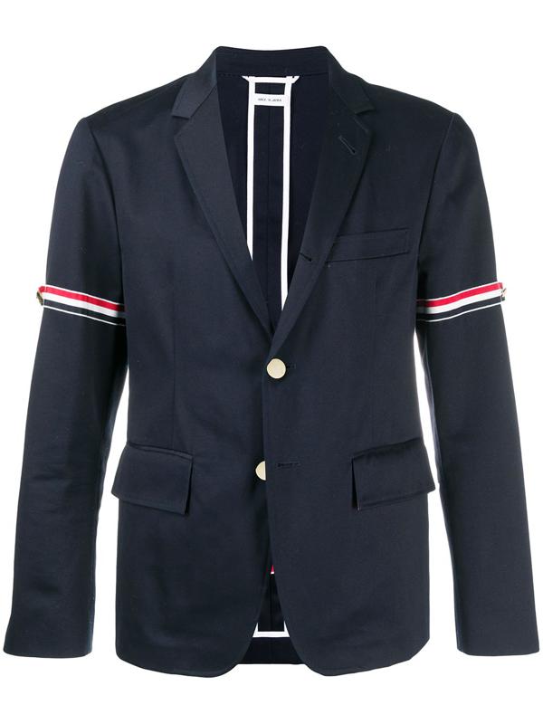 Thom Browne Single Breasted Jacket In Blue