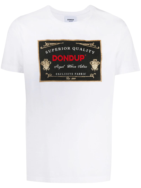 Dondup Embroidered Logo Patch T-shirt In White