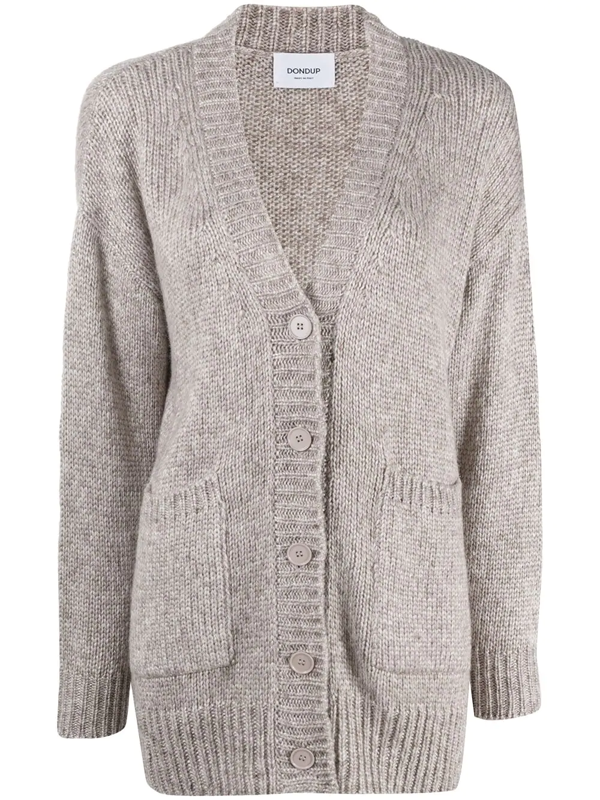Dondup Dropped Shoulder Cardigan In Neutrals