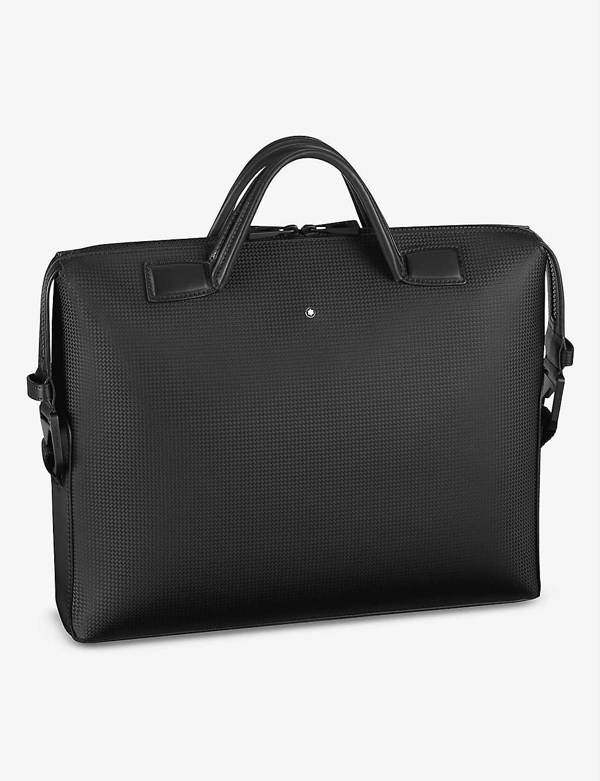 Montblanc Extreme 2.0 Ultra Slim Leather Document Case In Black