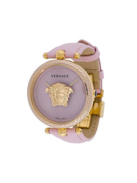 1242530bbb Versace Palazzo Empire Pink And Pvd Plated Gold Women's Watch W/3D Medusa