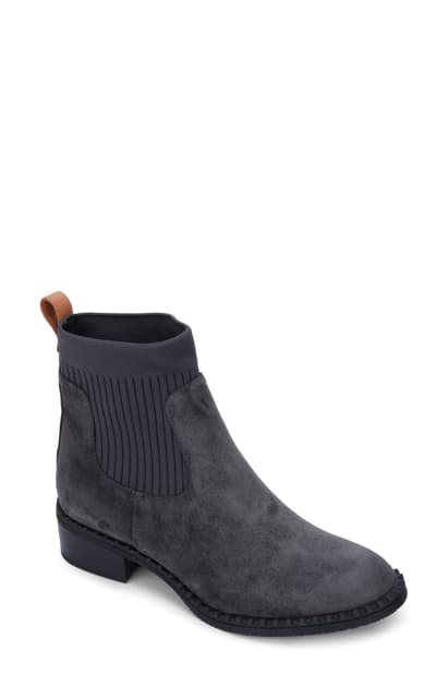 Gentle Souls By Kenneth Cole Best Chelsea Boot In Charcoal Suede