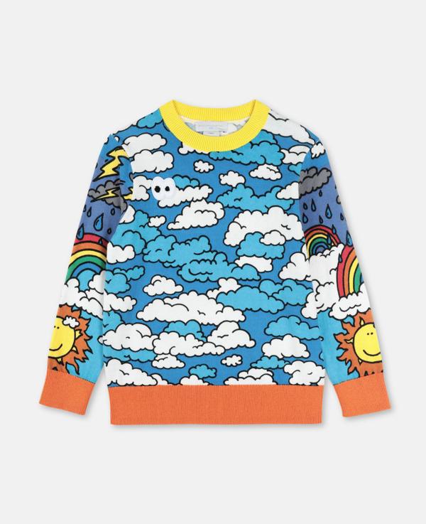Stella Mccartney Kids Multicolour Happy Sky Jumper In Multicolor