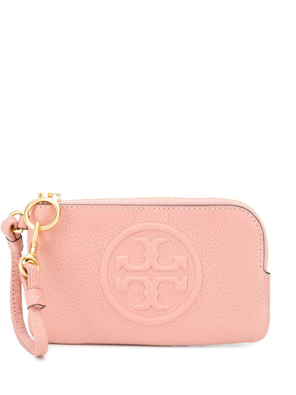 Tory Burch Perry Bombé Pink Leather Card Holder
