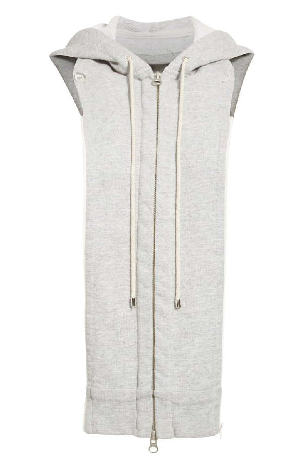 Veronica Beard Heather Gray Hoodie Dickey In Heather Grey