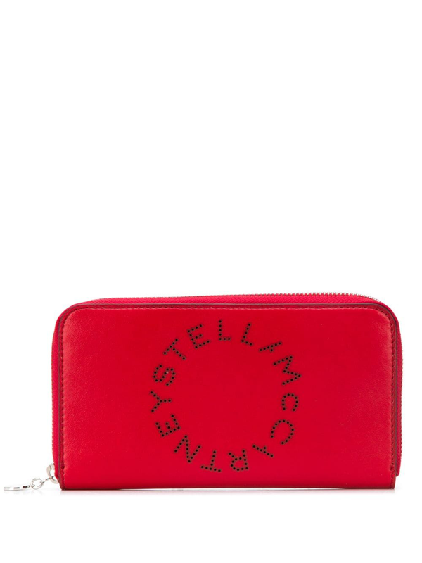 Stella Mccartney Stella Logo Continental Wallet In Red