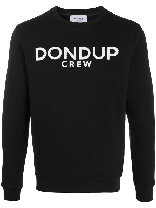 Dondup Cotton Sweatshirt In Black