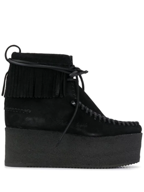 Palm Angels X Clarks Platform Wallacraft Boots In Black