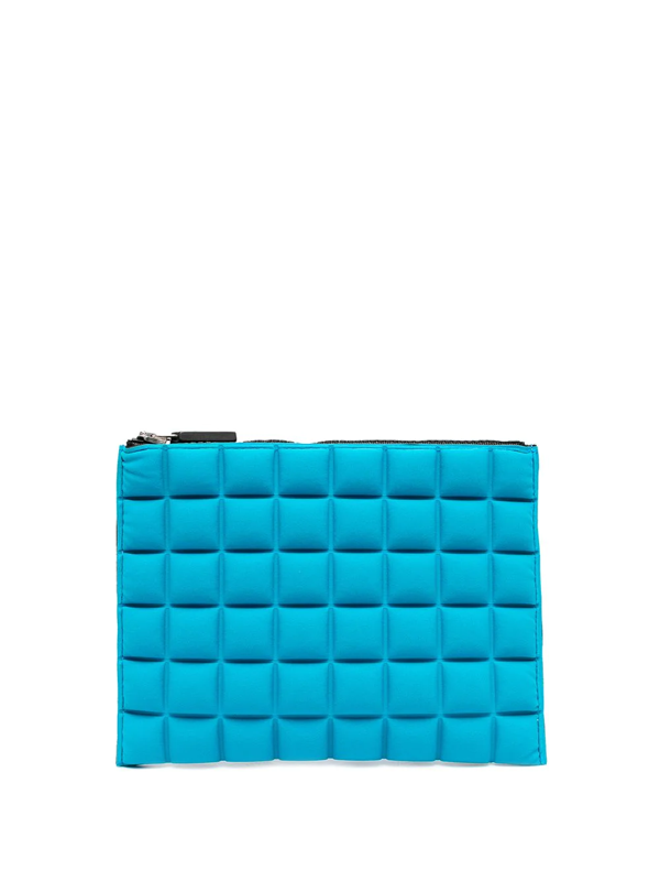 No Ka'oi Quilted Clutch Bag In Blue