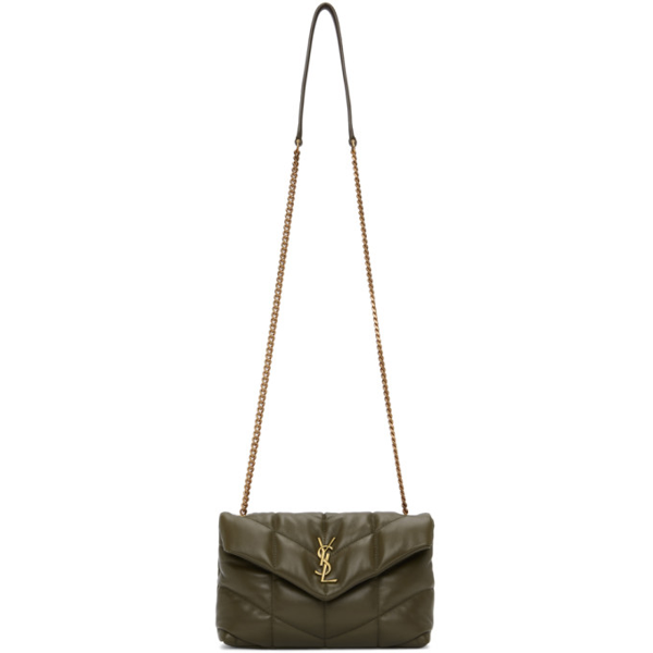 Saint Laurent Loulou Puffer Small Quilted Leather Shoulder Bag In 3221 Seawea