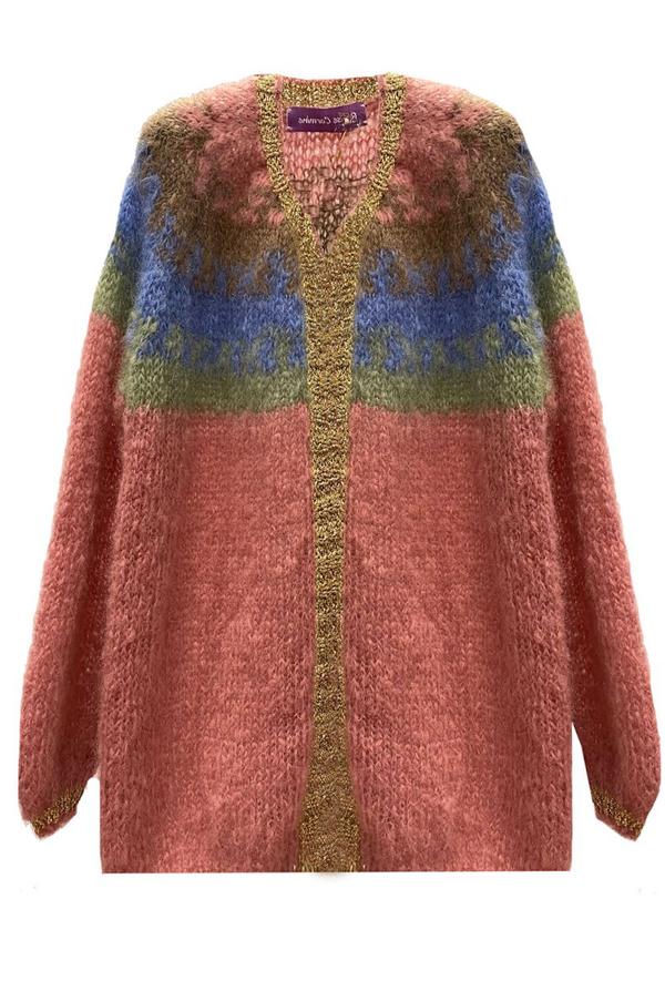 Rose Carmine Gilet Little Jacket Rainbow Tye Dye Combination In Multi