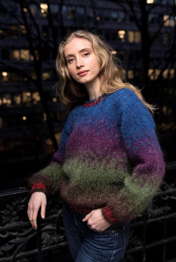 Rose Carmine Tye Dye Chocolate Combination Sweater In Multi