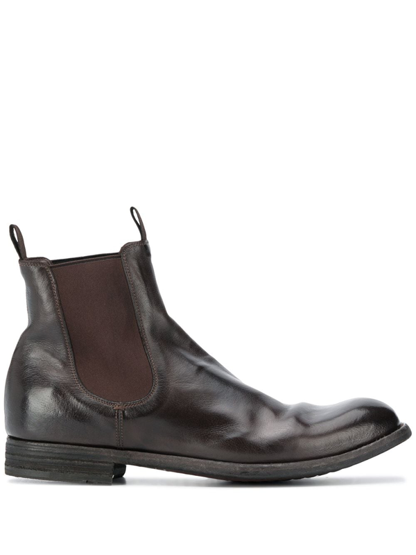 Officine Creative Journal Pull-on Ankle Boots In Brown