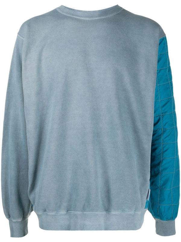 Ambush Rear Quilted Panel Sweatshirt In Blue