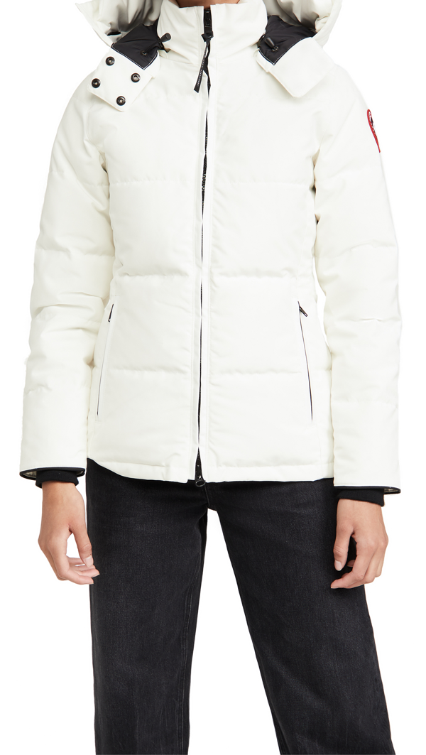 Canada Goose Chelsea Fur-trimmed Down Parka In White