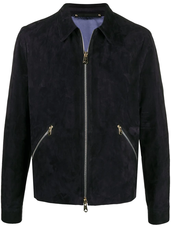 Paul Smith Zip-pockets Light Jacket In Blue