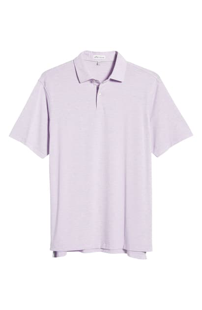 Peter Millar Dri-release Natural Touch Stripe Polo In Wild Lilac