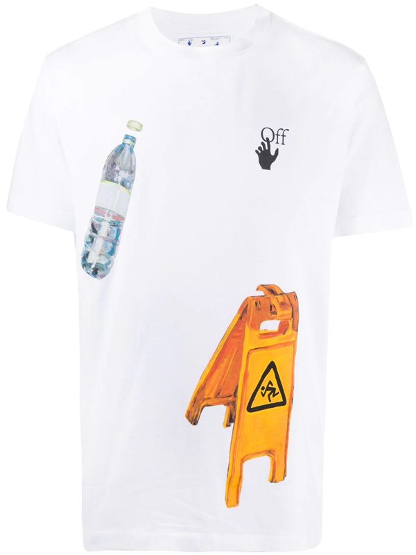Off-white T-shirt Pascal Medicine In Cotone In White