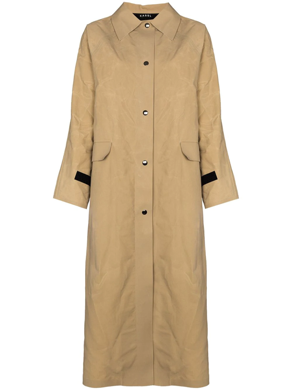 Kassl Editions Original Coated-cotton Trench Coat In Neutrals