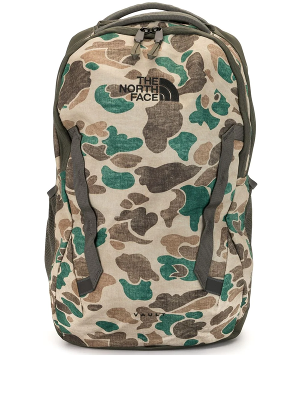 The North Face Vault Backpack In Khaki Camo-green