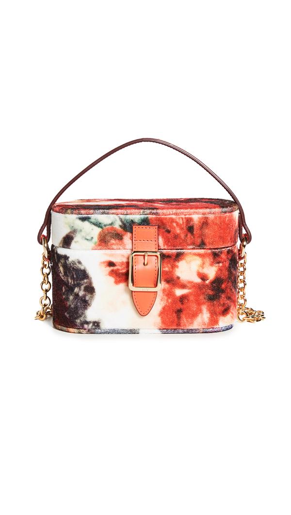Officina Del Poggio Micro Safari Bag In Fall Floral Velvet