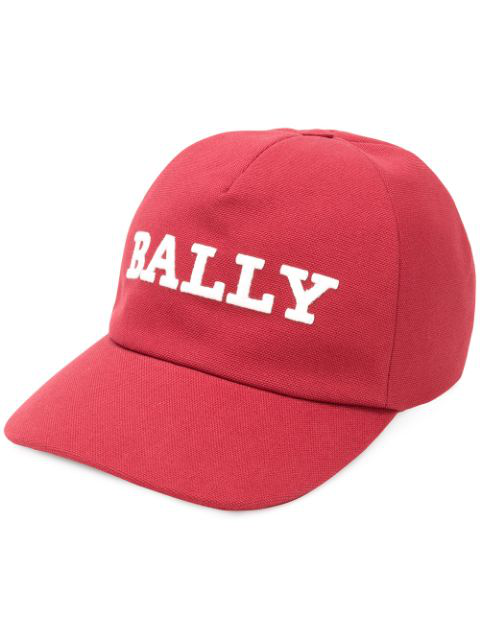 Bally Men's Embroidered Logo Baseball Cap In Red
