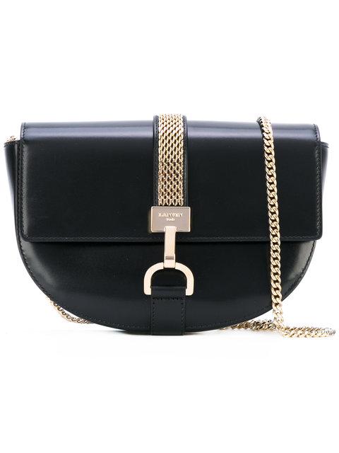 14cb2a20ead291 Lanvin Lien Leather Cross-Body Bag In Black | ModeSens