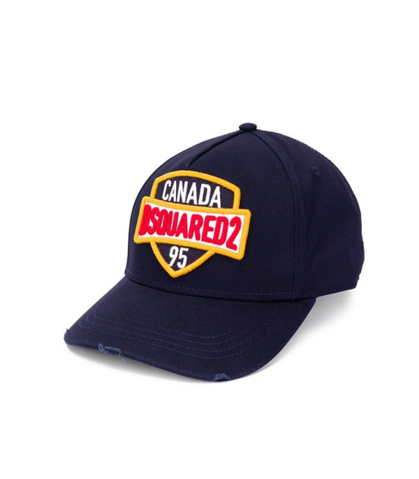 Dsquared2 Patch Navy Blue Baseball Cap In Navy (blue)