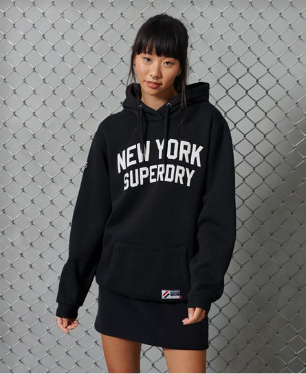Superdry Limited Edition City College Hoodie In Black
