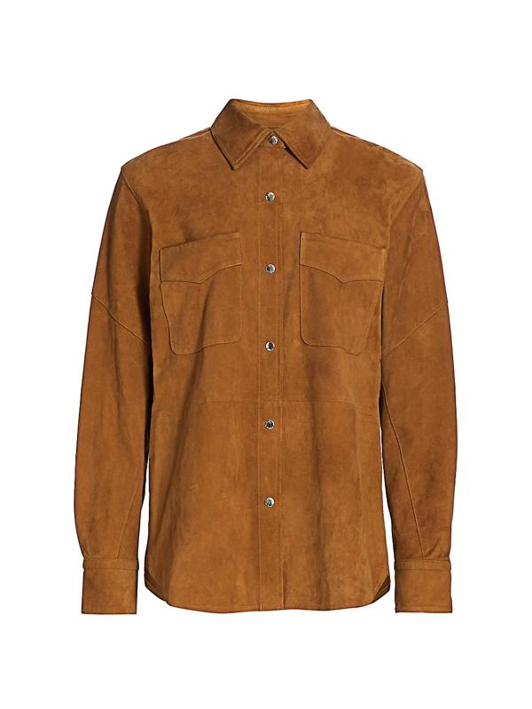 Rag & Bone Women's Jack Suede Button-front Shirt In Tan