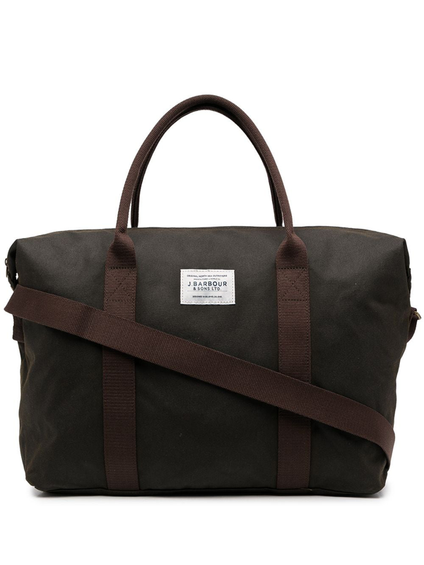 Barbour Canvas Patch Tote In Brown